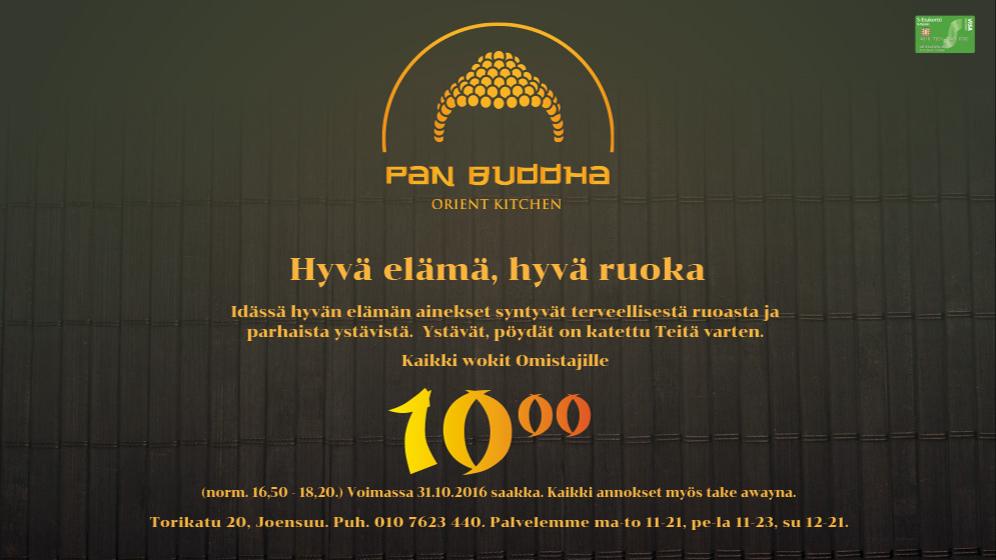 Kaikki wokit 10 € lokakuun ajan Pan Buddhasta
