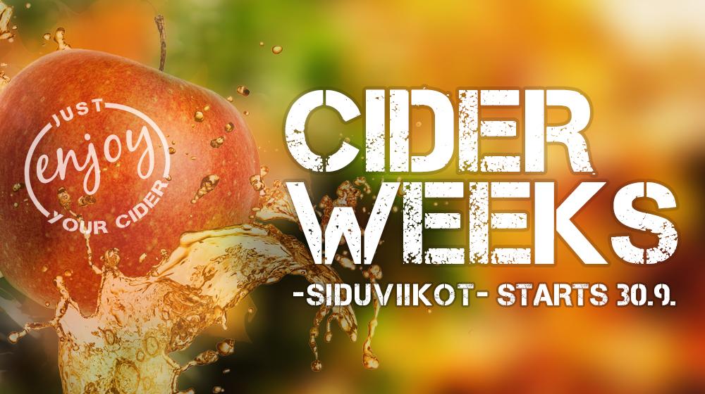 Cider Weeks -siduviikot-