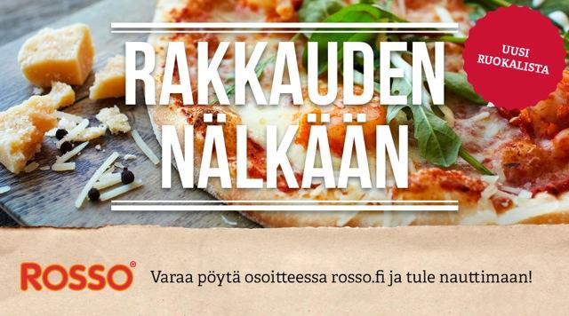 Uusi pizzalista Rossoissa!