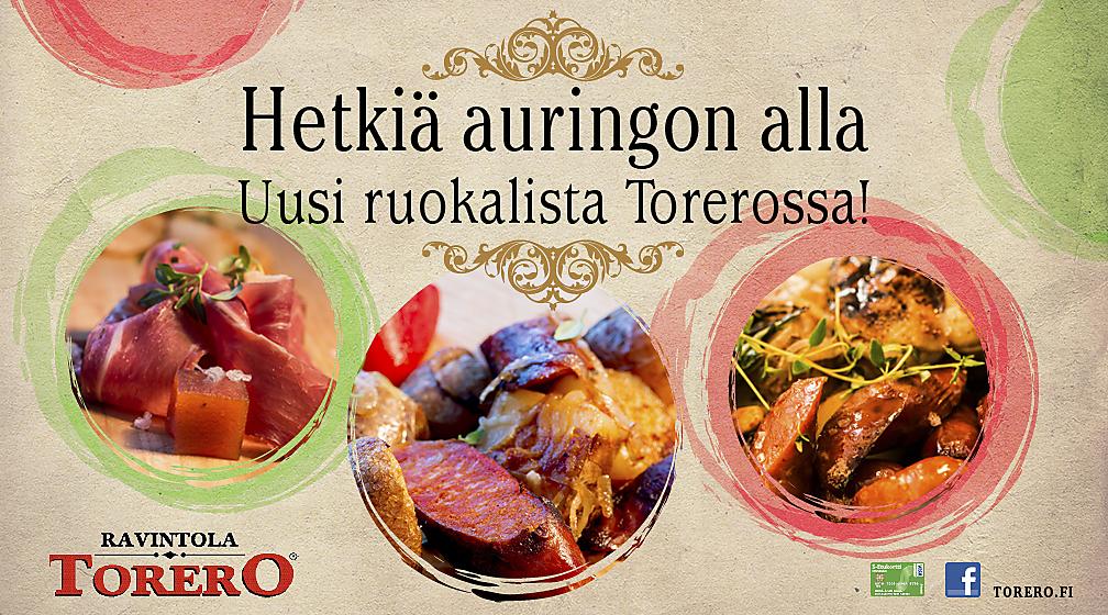 Uusi ruokalista Torerossa!