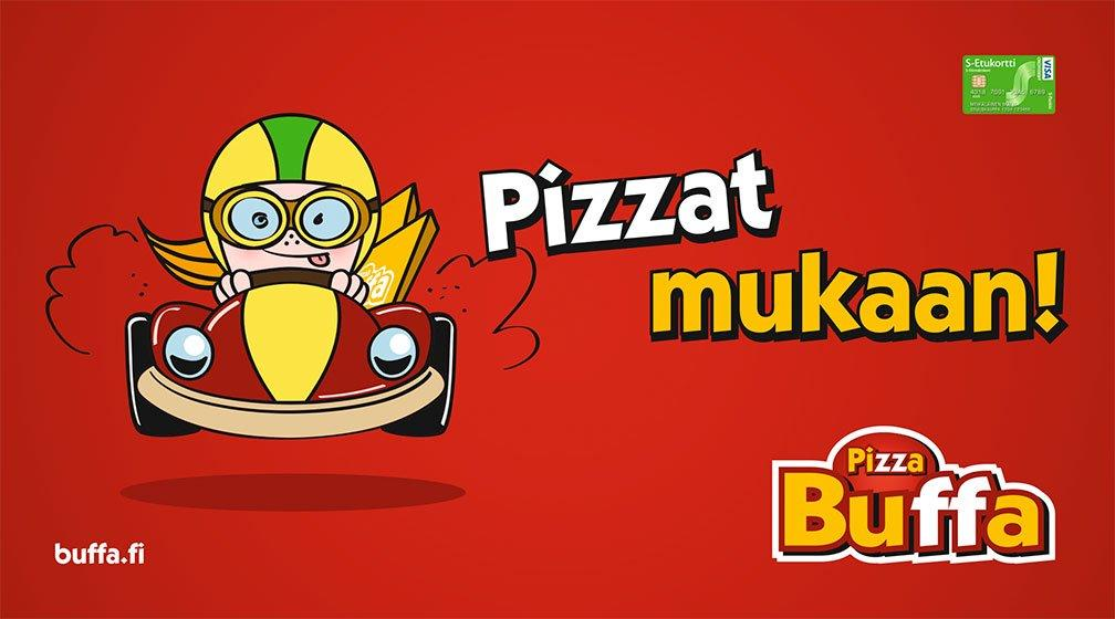 Buffasta pizzat mukaan!
