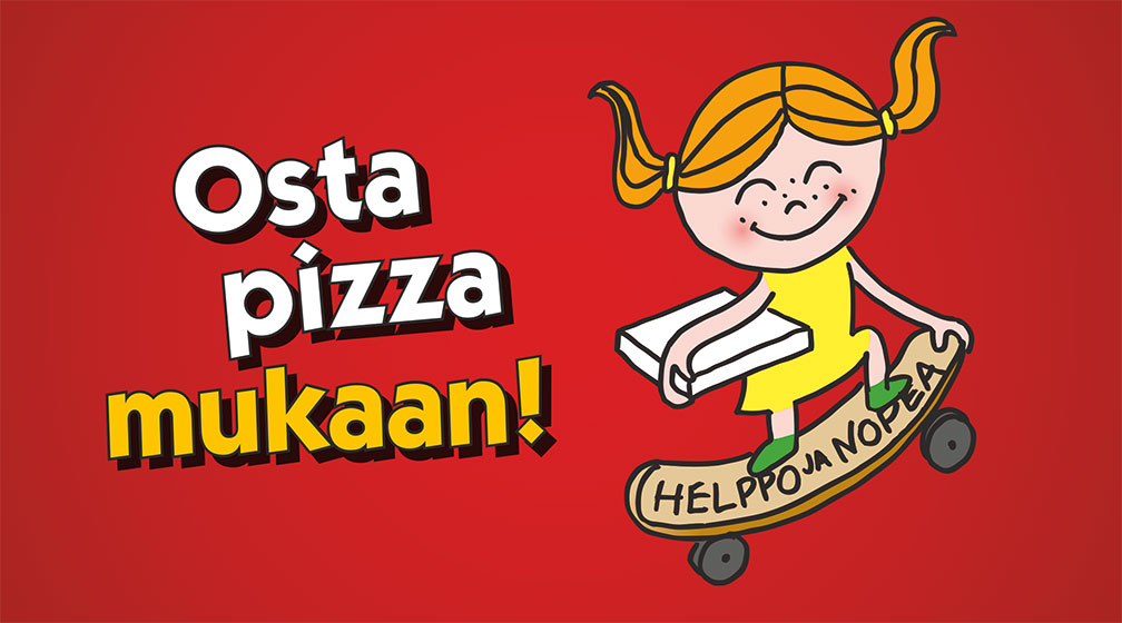 Pizzabileet kotona
