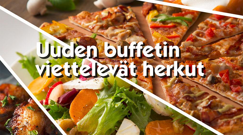 PizzaBuffan uusi lounasbuffet vie kielesi