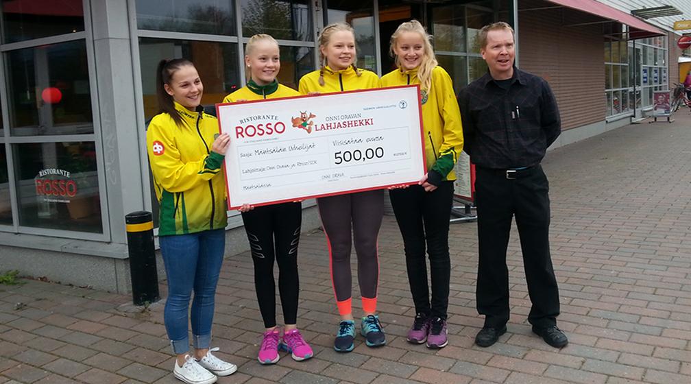 Rosso tukee lasten ja nuorten yleisurheilukouluja 12 000 eurolla