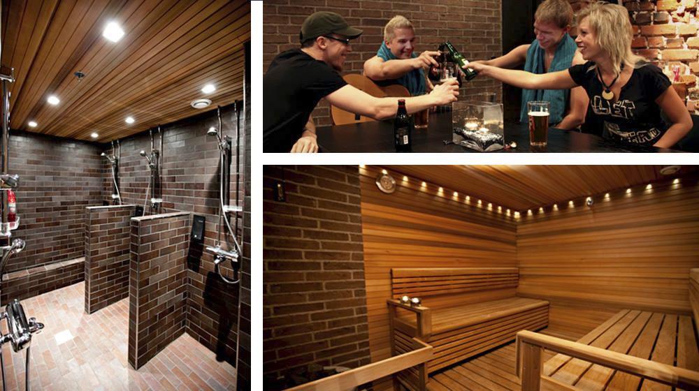 Tunnelmalliset saunatilat & kabinetit Vanhalla paloasemalla