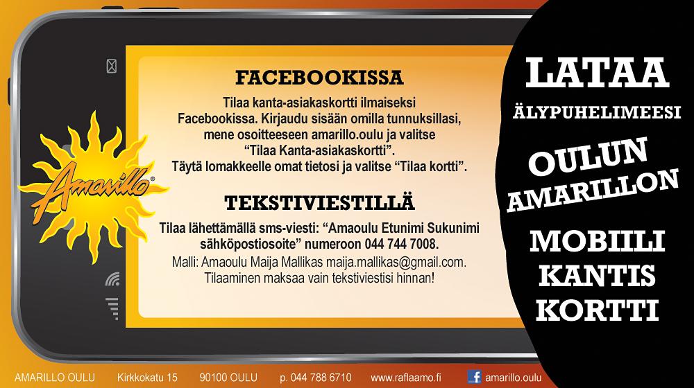 Oulun Amarillon mobiilikantiskortti