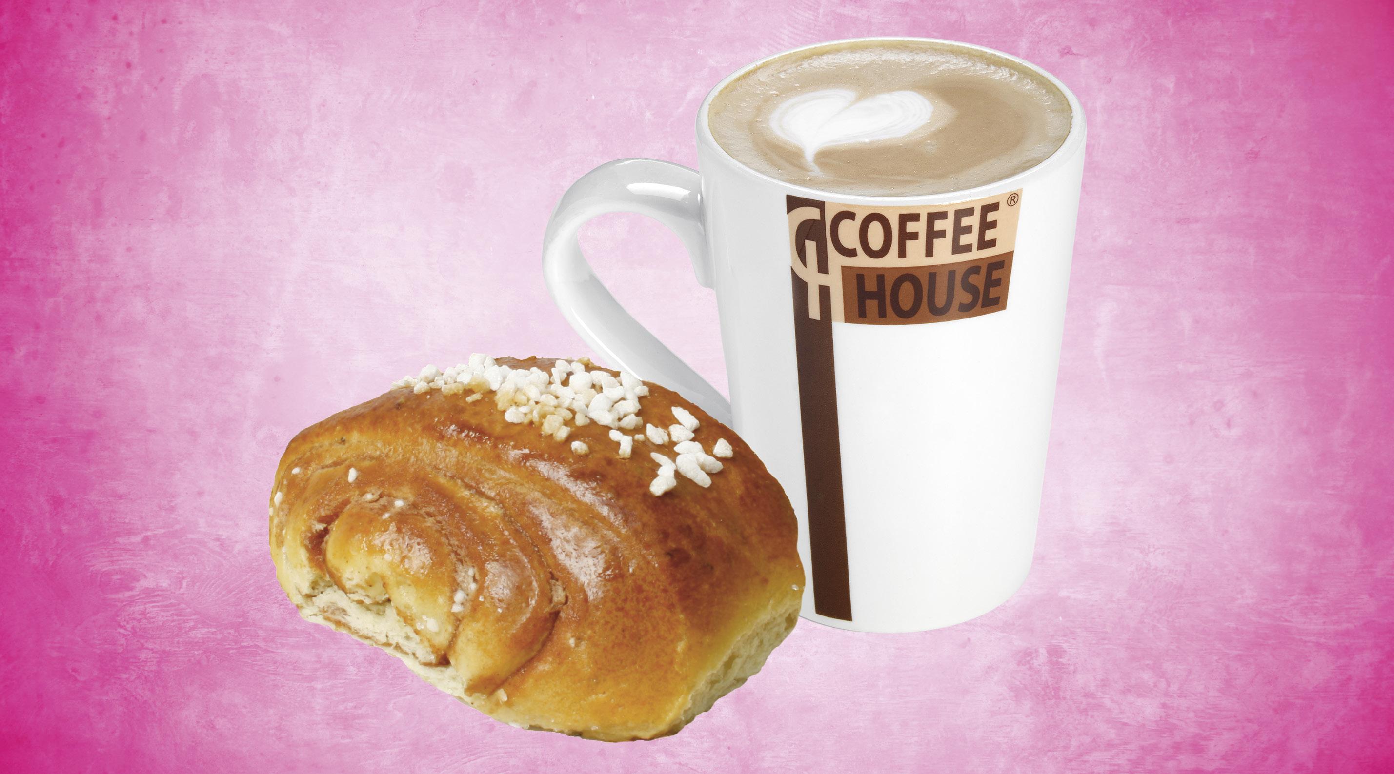 Pieni kahvi tai tee ja päivän pulla S-Etukortilla 3,50 €