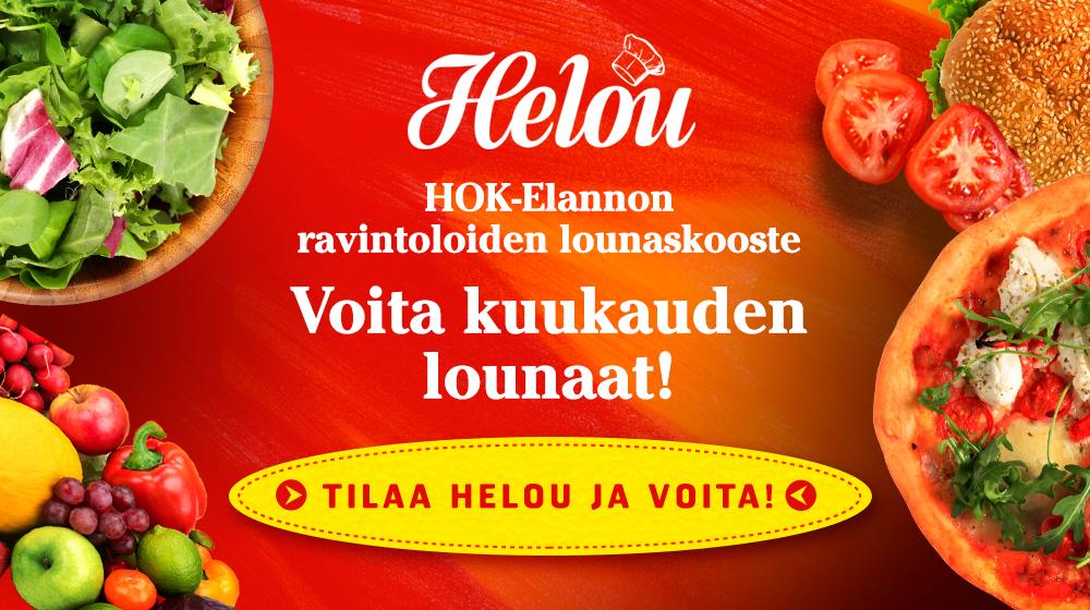 Tilaa Helou ja voita kuukauden lounaat!