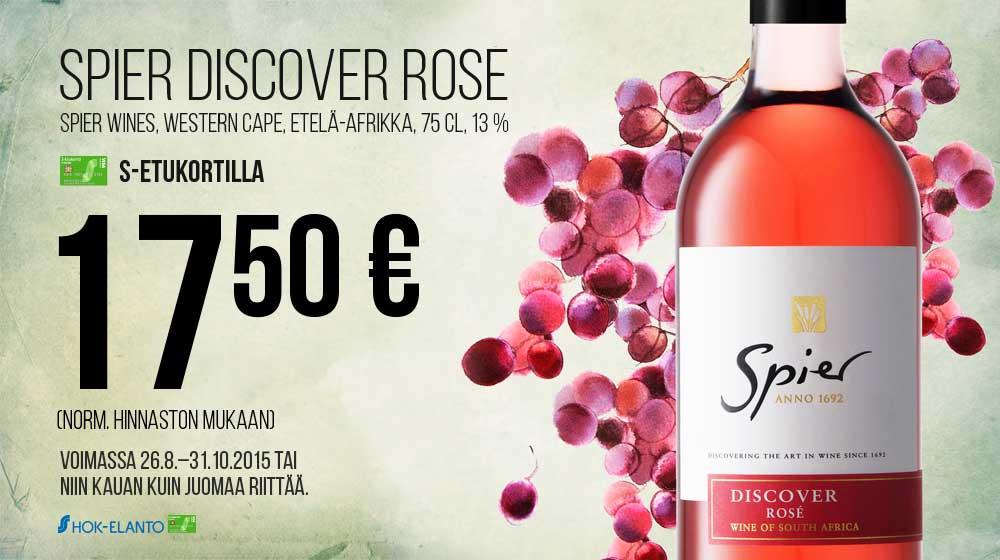 Spier Discover Rose -viinipullo jopa yli –50 %