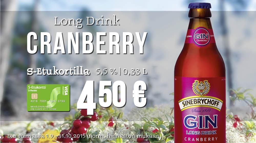 Arktinen klassikko Long Drink Cranberry 4,50 €