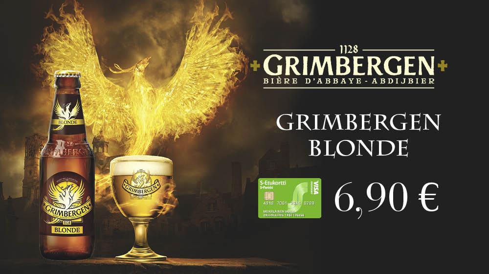 Grimbergen Blonde -olut 6,90 €