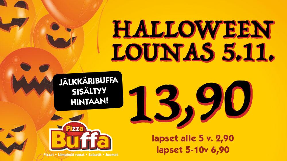 Halloween lounas PizzaBuffissa 5.11.