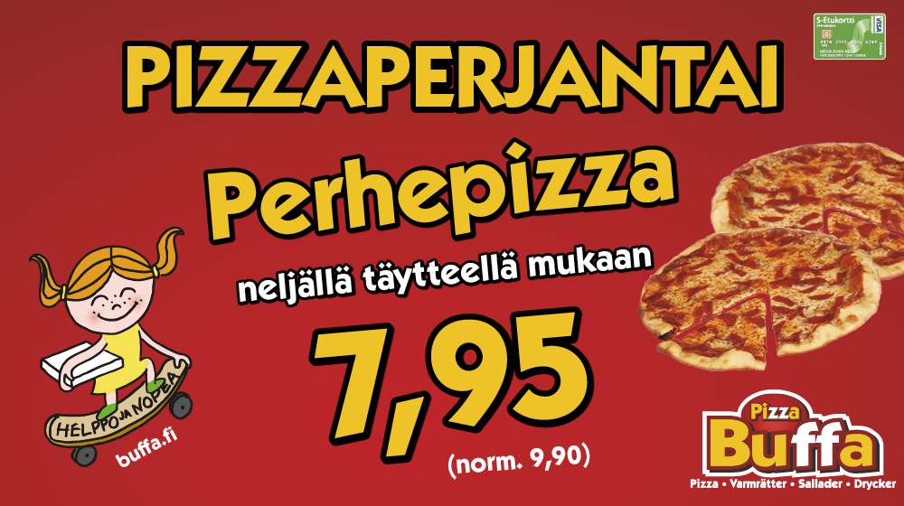 Buffan Pizzaperjantai!