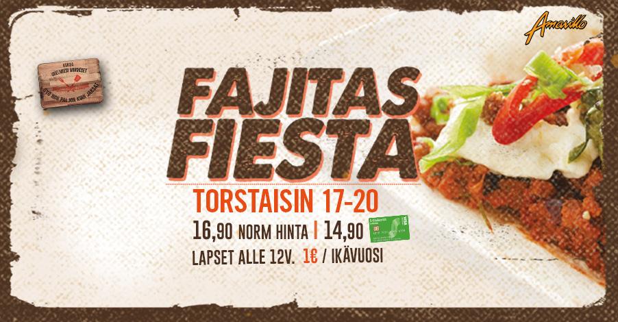 Amarillon Fajitas Fiesta torstaisin!