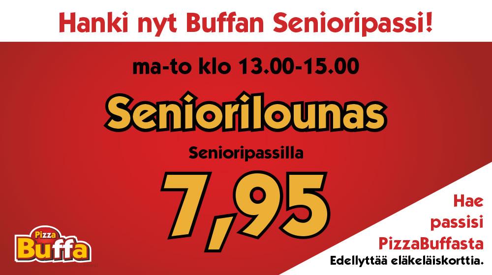 Buffan lounas senioripassilla 7,95