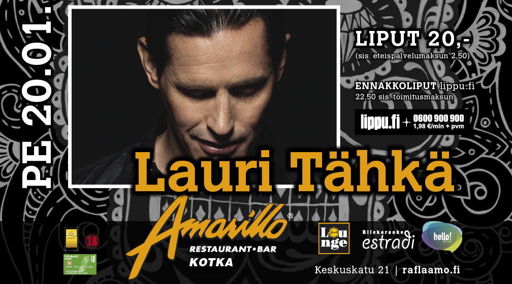 Amarillo Kotka Live! Lauri Tähkä 20.1.2017