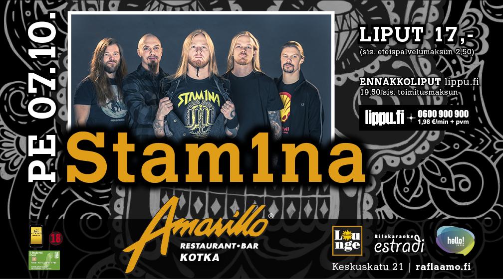 Amarillo Kotka Live! Stam1na 7.10.2016