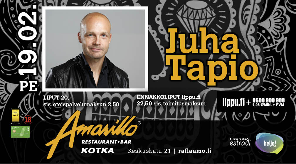 Amarillo Kotka Live! Juha Tapio 19.2.2016