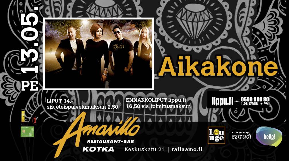 Amarillo Kotka Live! Aikakone 13.5.2016