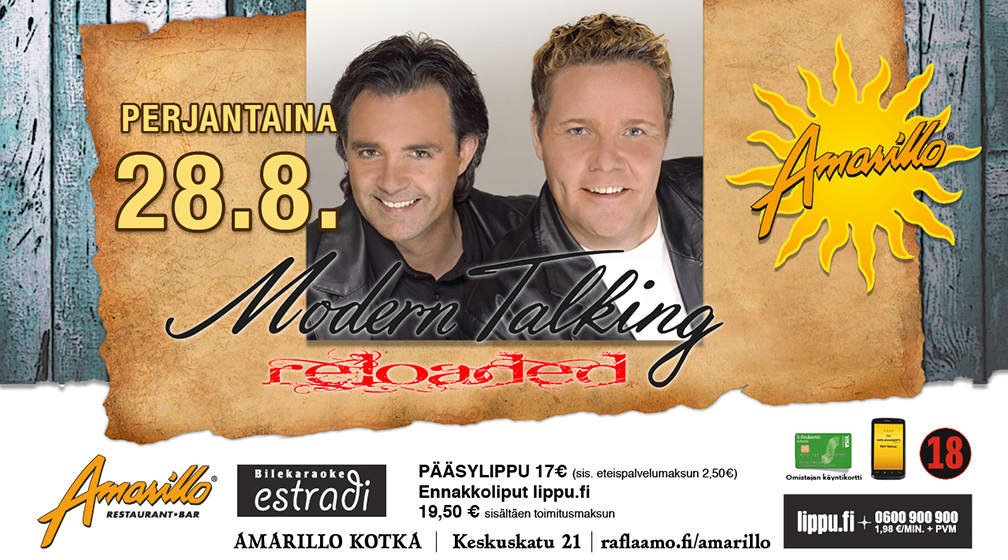 Amarillo Kotka: Modern Talking reloaded 28.8.