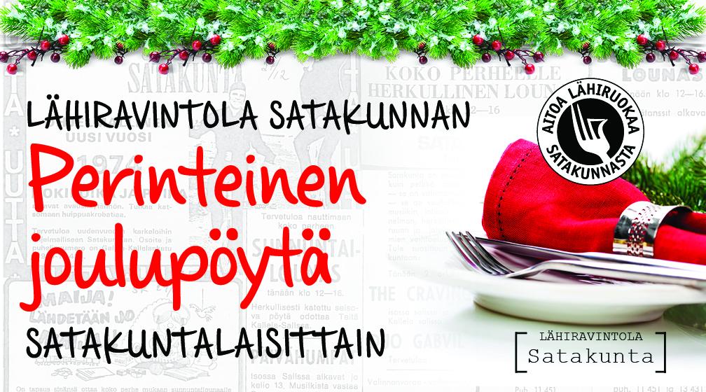 Lähiravintola Satakunnassa on maukkaat jouluperinteet