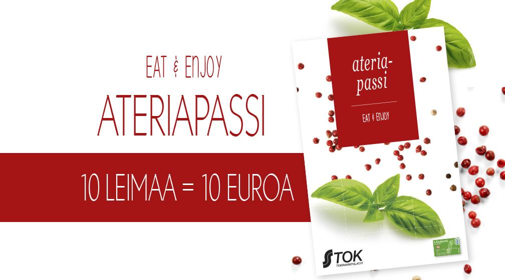 Hae itsellesi Ateriapassi ja tienaa syömällä!