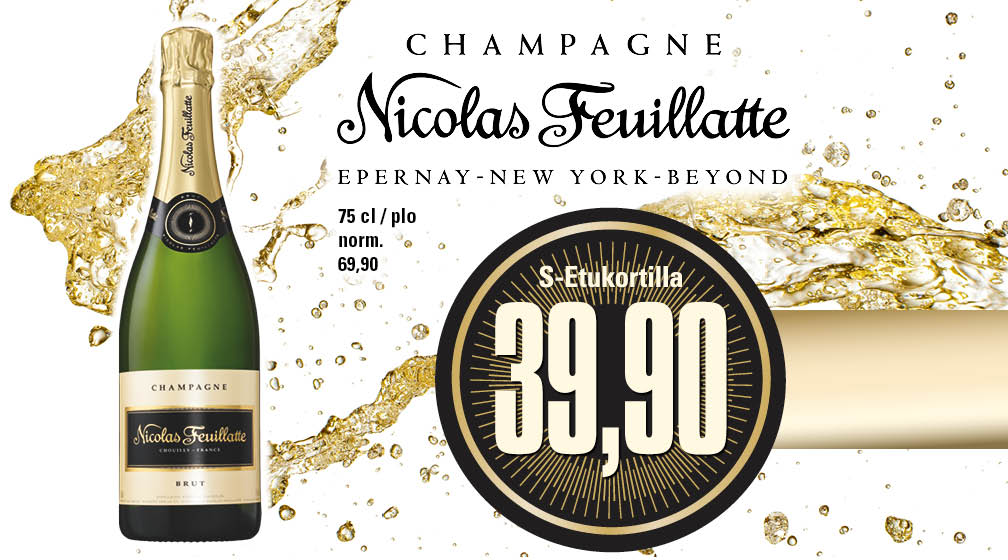 Nicolas Feuillatte Brut -samppanja juhlistaa hetken