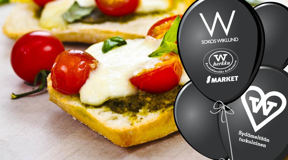 W Cafésta lämmin foccaccia + salaattia ja juoma 6,90