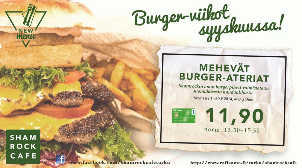 Shamrockin Burger-viikot syyskuussa