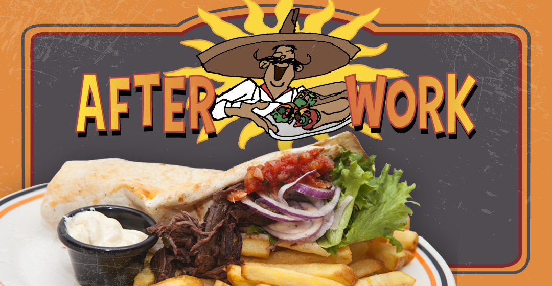 After Work Burritoateria alk. 9,90 €