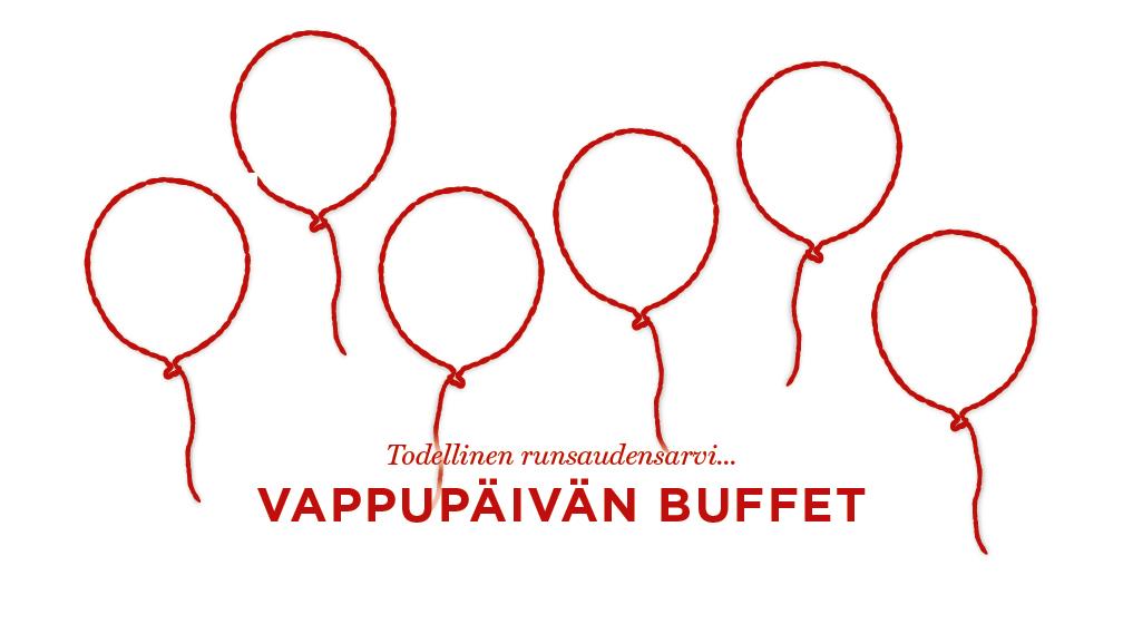 Vappupäivän buffet 1.5.