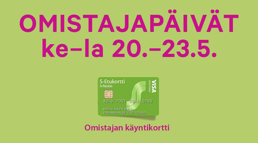 Omistajapäivät ke - la 20.-23.5.2015