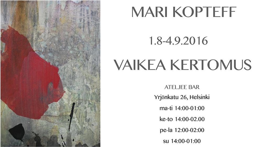 Taidenäyttely Helsingin Tornin Ateljee Barissa
